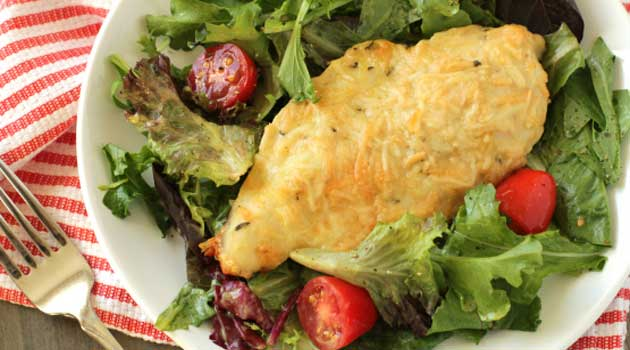 Why just have a plain salad when you can have a Parmesan-Crusted Chicken with Agurla Salad! Dress up your chicken and enjoy a healthy salad or sidedish!